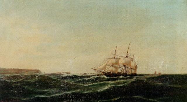 tremaster skib ud for kysten by emile valentin