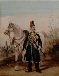 a native officer, ramghur irregular horse by henry martens