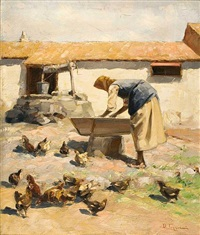 a farm scene by vasilis germenis