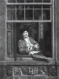 self portrait at a window by gerrit zegelaar