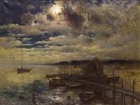 ночь на реке аа by yuliy yulevich (julius) klever
