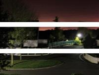 triptyque soleil rouge (triptych) by olivier arrachart