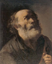 a study of saint peter by master of the annunciation to the shepherds