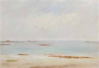 plage, marée basse by charles alfred diligeon