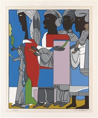 processional by romare bearden
