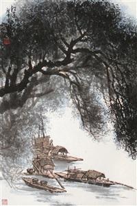 江边 (landscape) by huang runhua