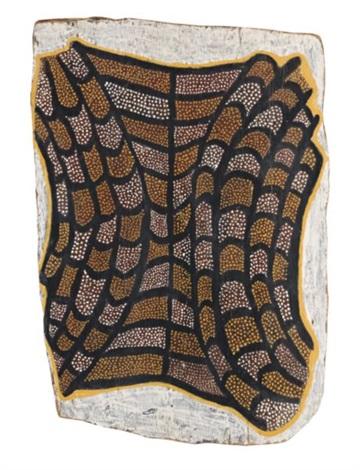 pukumani ceremony crocodile skin by mungatopi alie miller