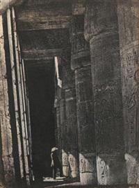 medinet-habou, galerie du palais by maxime du camp