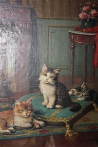 les trois chatons by léon charles huber