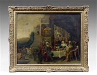 le banquet d'esther by hieronymus francken iii