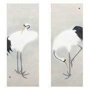 cranes (pair) by toshio yokoyama