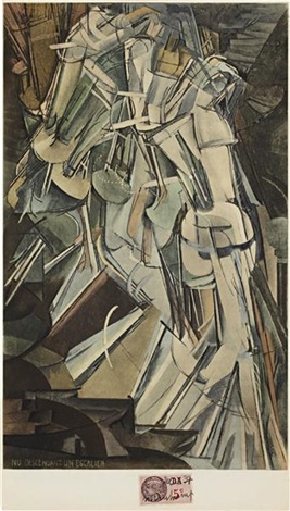 nude descending a staircase no 2 nu descendant un escalier no 2 by marcel duchamp