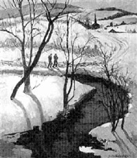 snow shadows by susan gertrude schell