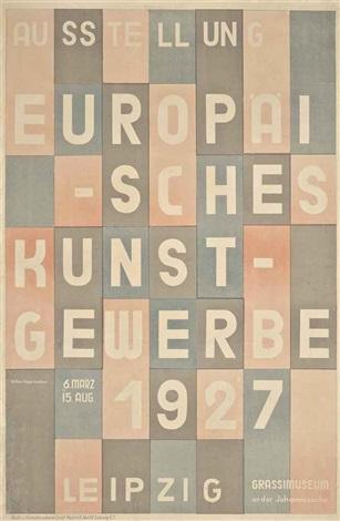 ausstellung europäisches kunst gewerbe by herbert bayer