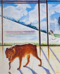 perro y piscina by joaquin pacheco reina
