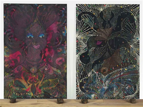 untitled diptych by chris ofili