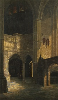church interior by edwin deakin