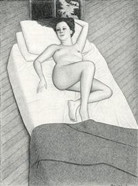 reclining nude by john brack