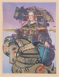 lady on horse by nasser ovissi