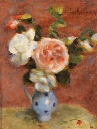 vase de fleurs by lucien rené mignon