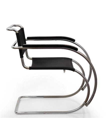 The Armchair Model No. Mr 534 By Ludwig Mies Van Der Rohe