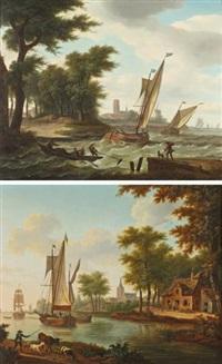 villages en bordure de rivière (2 works) by frans swagers