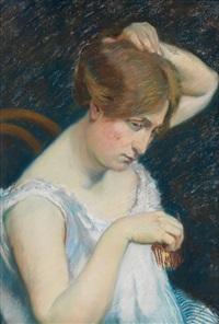 femme à la barrette by georges daniel monfreid