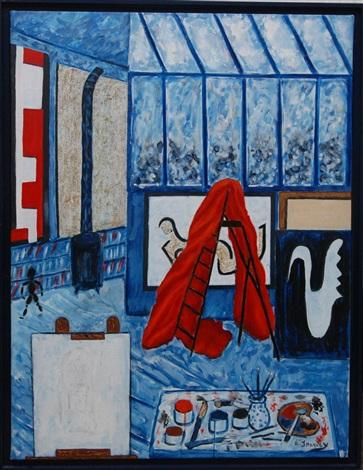 latelier au rideau rouge by jacques harvey