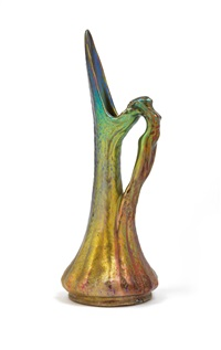 vase mit figuralem griff by jerome massier