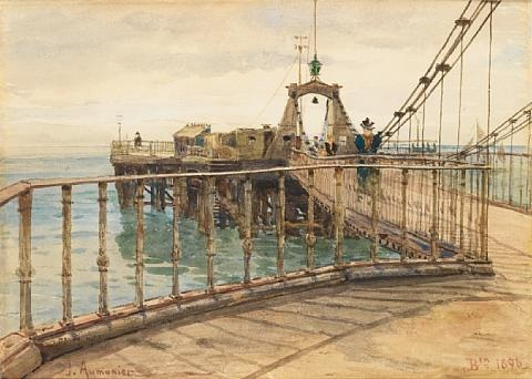 brighton chain pier by james aumonier
