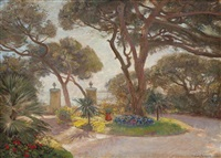 a garden by the sea, menton by olaf viggo peter langer