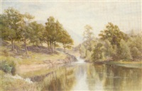 the approach to betws-y-coed by albert william ayling