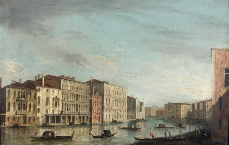 vue des zattere de san spirito vers san andrea et vue du grand canal prise à la hauteur du palais foscari venise pair by francesco tironi