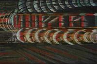velocità di un treno futurista by vittorio corona