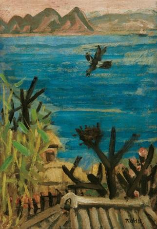 scenery with magpie by lee joongseop