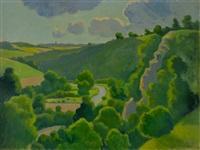 vallee du dozule en calvados by pierre-edmond peradon
