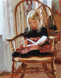 girl in the rocking chair by rowland davidson