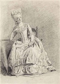 a seated lady by nicholaes muys