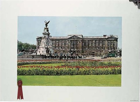 buckingham palace with first prize by malcolm morley