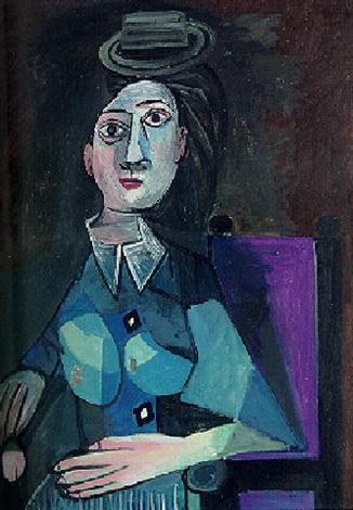 Femme au petit chapeau rond, assise by Pablo Picasso on artnet