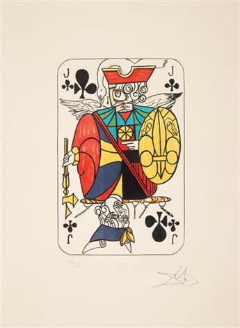 playing cards clubs 4 works by salvador dalí