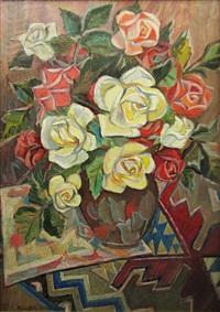 vase with roses by traian biltiu dancus