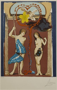 triomphe de l'amour (set of 2) by salvador dalí