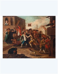 rissa tra contadini (+ festa contadina; 2 works) by giovanni michele graneri