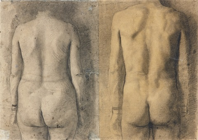 estudio de dos espaldas by antonio lópez garcía