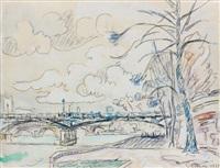 paris, le pont des arts by paul signac