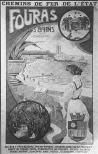 chemins de fer de l'état. fouras-les-bains by f. locatelli