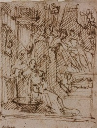 la naissance de la vierge by alessio gimignani