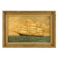 portrait of the ship ivanhoe in open waters by american school (19)