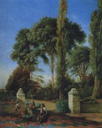 enfants jouant dans un parc by axel otto morner
